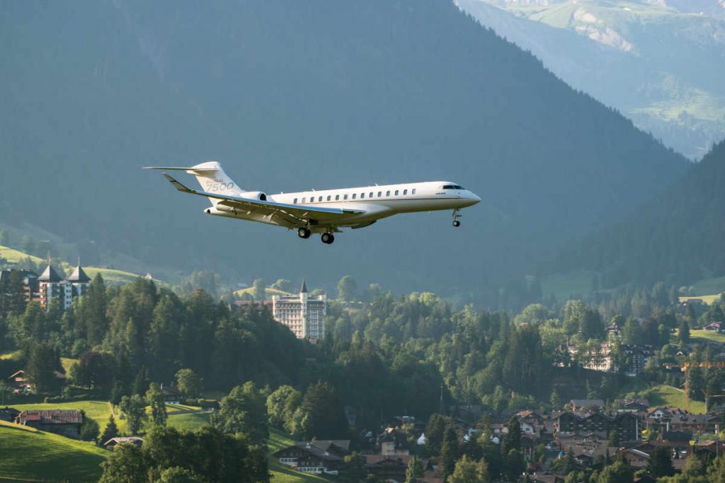 Global 7500 capabilities on display in Swiss Alps