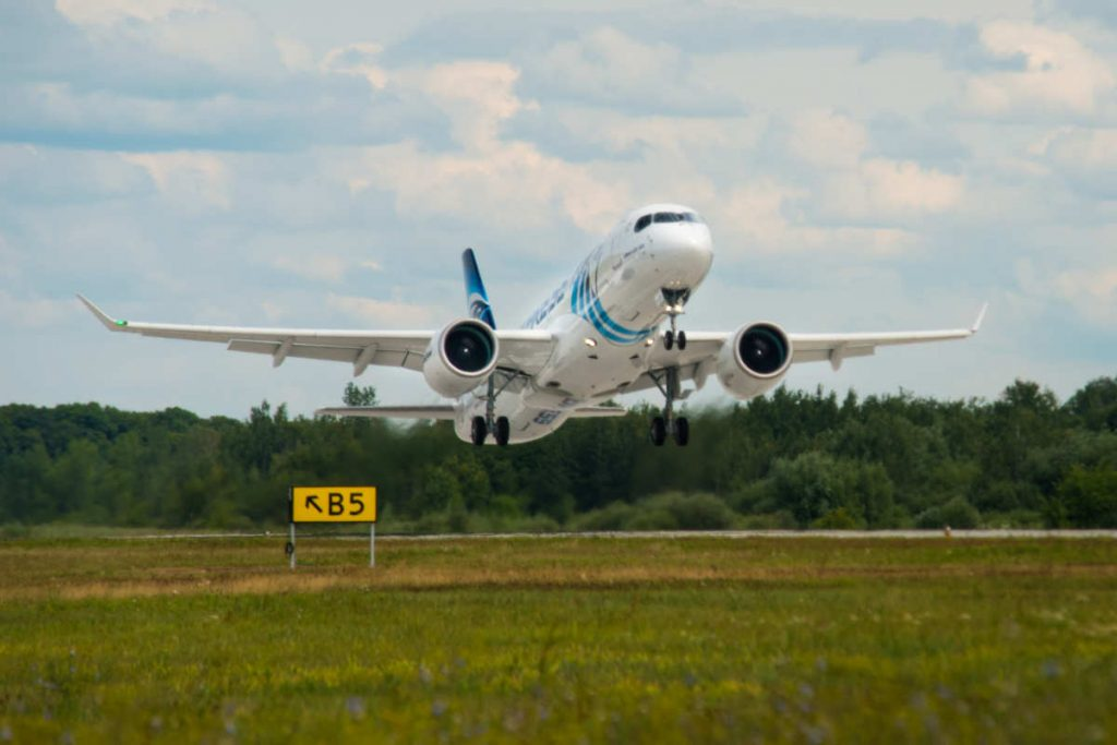 Maiden flight for first EgyptAir A220-300